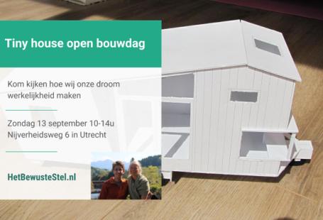 open bouwdag tiny house