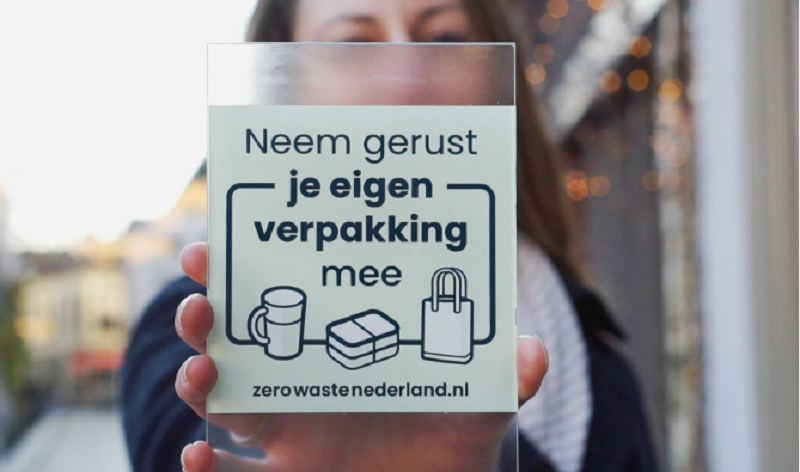 zero waste raamsticker
