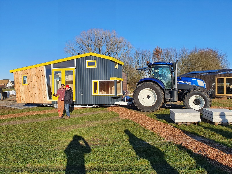 verplaatsing tiny house
